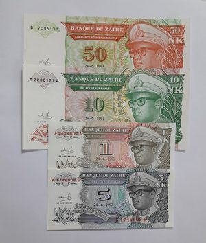 Zaire banknotes