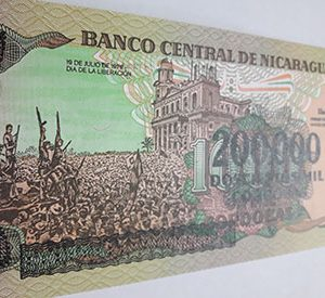 Very beautiful Nicaraguan foreign banknote nhh