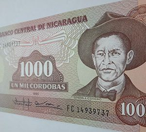 Very beautiful Nicaraguan foreign banknote cdd