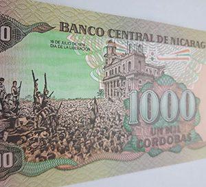 Very beautiful Nicaraguan foreign banknotecdd