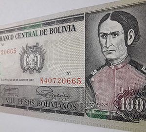 Foreign currency of Bolivia mj