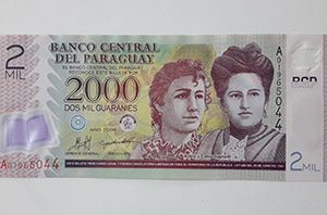 Paraguayan polymer foreign banknotes have a beautiful and colorful design nh