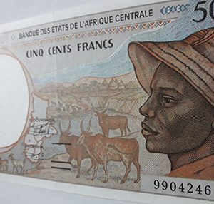 Beautiful and rare Central African foreign currency nb12
