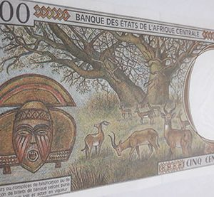 Beautiful and rare Central African foreign currency nhy