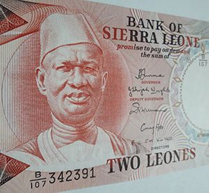Sierra Leone's foreign currency is beautiful and colorful nh