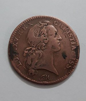 Foreign coin is a very rare and unique collection in Iran, France, 1741 nhh
