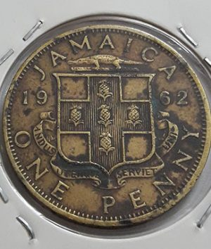 Extremely rare foreign currency Jamaican British colony Queen Elizabeth