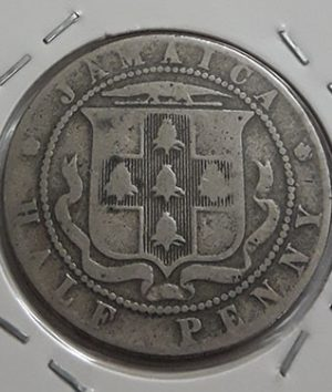 Extremely rare foreign coin of Jamaica, British colony, King George V, 1926 nh