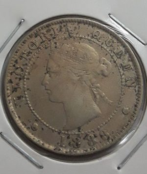 Extremely rare foreign coin Jamaican British colony Queen Victoria 1888 mj