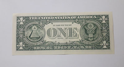 US $ 1 banknote in 2009 nh
