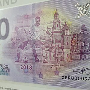 Zero euro banknotes commemorating the World Cup (2 banknotes) nhh