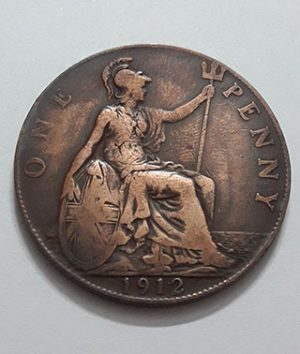 Foreign coin of King George V of Britain in 1912-mja