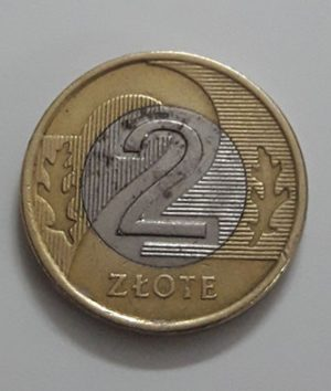 Bimetallic foreign currency coin of Poland, Dozzluti unit, 2008-lai