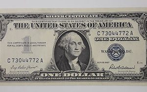 Extremely rare one-dollar foreign currency banknote from the United States in 1957-yqf