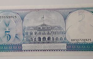 Foreign banknotes of the rare design of Suriname Banking quality in 1981-dss