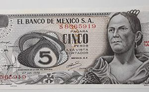 Foreign currency of Mexico 1972 Banking quality-esz
