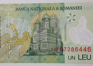 Romanian polymer foreign banknotes-ovv