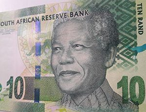 Foreign banknote of a very beautiful and rare design of the country of South Africa, image of Nelson Mandela-pom