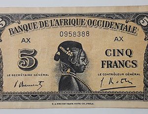 Extremely rare foreign currency of West Africa, France, 1942-tal