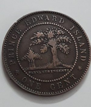 Extraordinarily rare foreign coin Prince Edward Island Picture of Queen Victoria in 1871-pwb