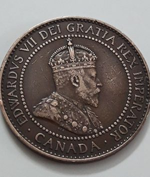 A very rare and valuable foreign coin of a Canadian tradition, King Edward VII, 1909-zqp