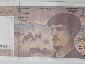 Foreign banknote of the beautiful and rare design of France in 1997-bhk