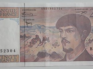 Foreign banknote of the beautiful and rare design of France in 1997-zhp