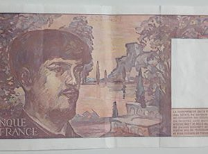 Foreign banknote of the beautiful and rare design of France in 1997-tuc