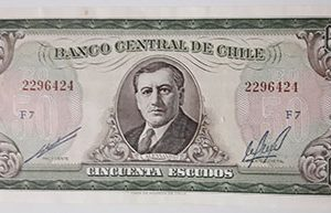 Extremely rare and valuable foreign banknotes of Chile (banking quality)-xza