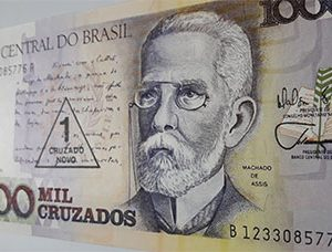 Foreign currency of Brazil, 1000 units-plv