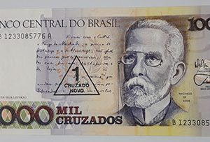 Foreign currency of Brazil, 1000 units-abc