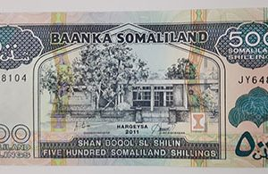 Foreign banknote of the beautiful design of Somalia in 2011 (banking quality)-nrk