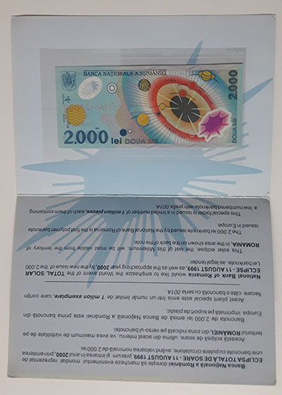 Romanian polymer foreign banknotes with folders-aki