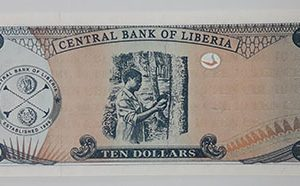 Foreign banknote of the beautiful and rare design of Liberia-xgw