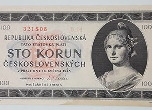 Extremely rare and unique foreign banknote from Czechoslovakia, 1945, banking quality-rgv