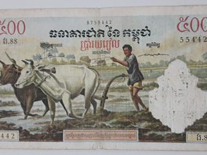 Foreign banknotes A very beautiful and rare painting of Cambodia-qhz