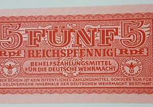 Beautiful foreign banknote of the broken cross of Nazi Germany-thb