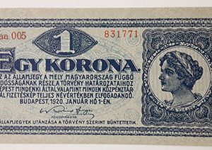 Extremely rare and valuable foreign banknote in Hungary 1920 Banking quality (100 years old)-rew