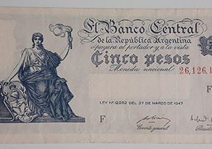 Extremely rare and valuable foreign banknotes of old Argentina in 1947-wwx