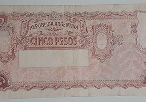 Extremely rare and valuable foreign banknotes of old Argentina in 1947-ssx