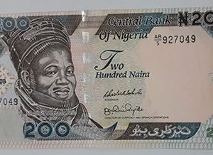 Beautiful and rare foreign banknote of Nigeria, 200 units, 2008-ufm