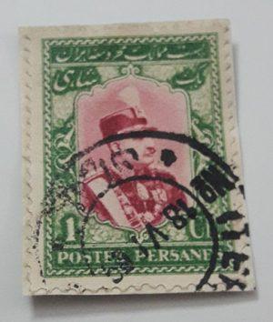 Iranian stamp of a Shah Reza Shah Pahlavi-jkl