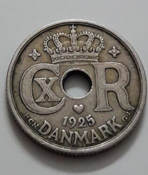 Rare foreign currency coin of Denmark in 1925-ggx