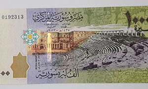 Foreign currency of 1000 Syrian pounds in 2013-ddh