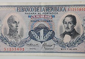 Foreign banknotes of the rare design of Colombia in 1970-qyy