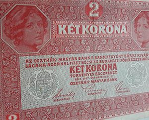 Foreign banknote of Austria in 1917-pdp