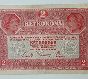 Foreign banknote of Austria in 1917-ffx