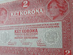 Foreign banknote of Austria in 1917-xfx