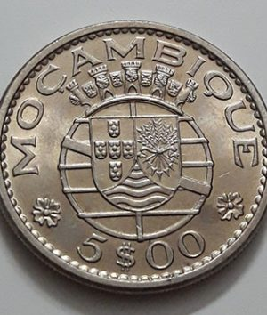 Foreign coin of Mozambique in 1973-ffn