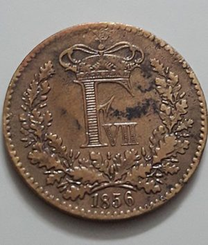 A very rare and valuable foreign coin of Denmark Frederick VII in 1856-ffs
